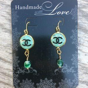 Name Brand Green Handmade Earrings